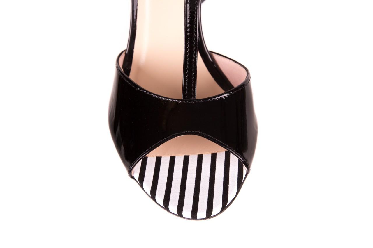 Sandały bayla-097 08 czarno - białe sandały, skóra naturalna lakierowana  - bayla - nasze marki 11