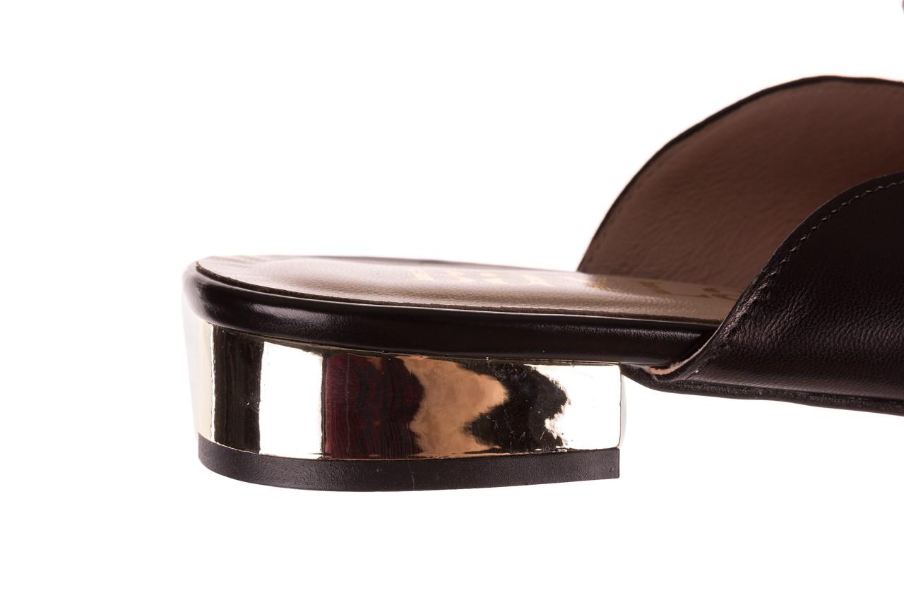 Klapki bayla-097 10 czarne klapki z perłami, skóra naturalna  - mokasyny i lordsy - półbuty - buty damskie - kobieta 13