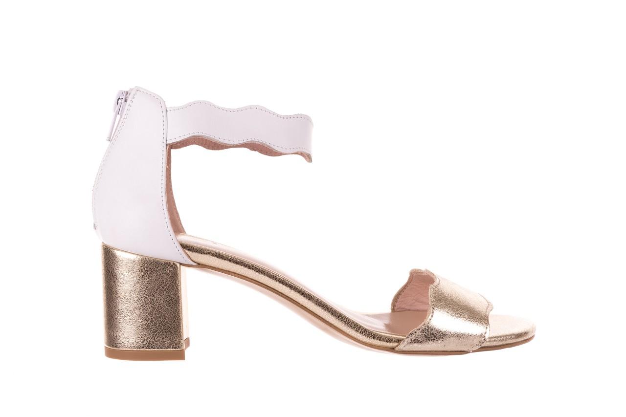 Sandały bayla-097 12 biało-złote sandały, skora naturalna  - kolekcja ślubna - trendy - kobieta 7