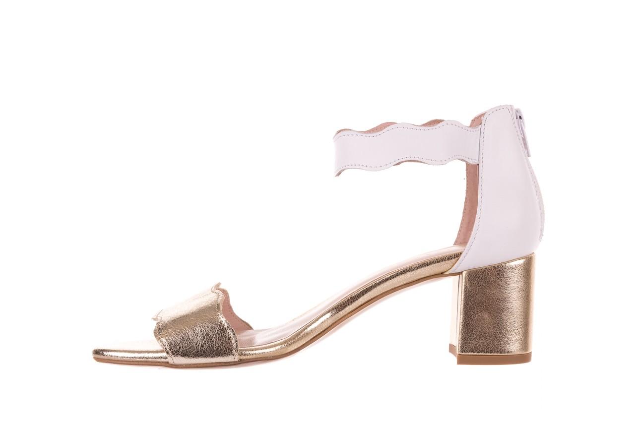 Sandały bayla-097 12 biało-złote sandały, skora naturalna  - kolekcja ślubna - trendy - kobieta 9