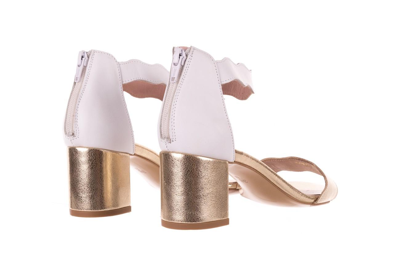 Sandały bayla-097 12 biało-złote sandały, skora naturalna  - kolekcja ślubna - trendy - kobieta 10