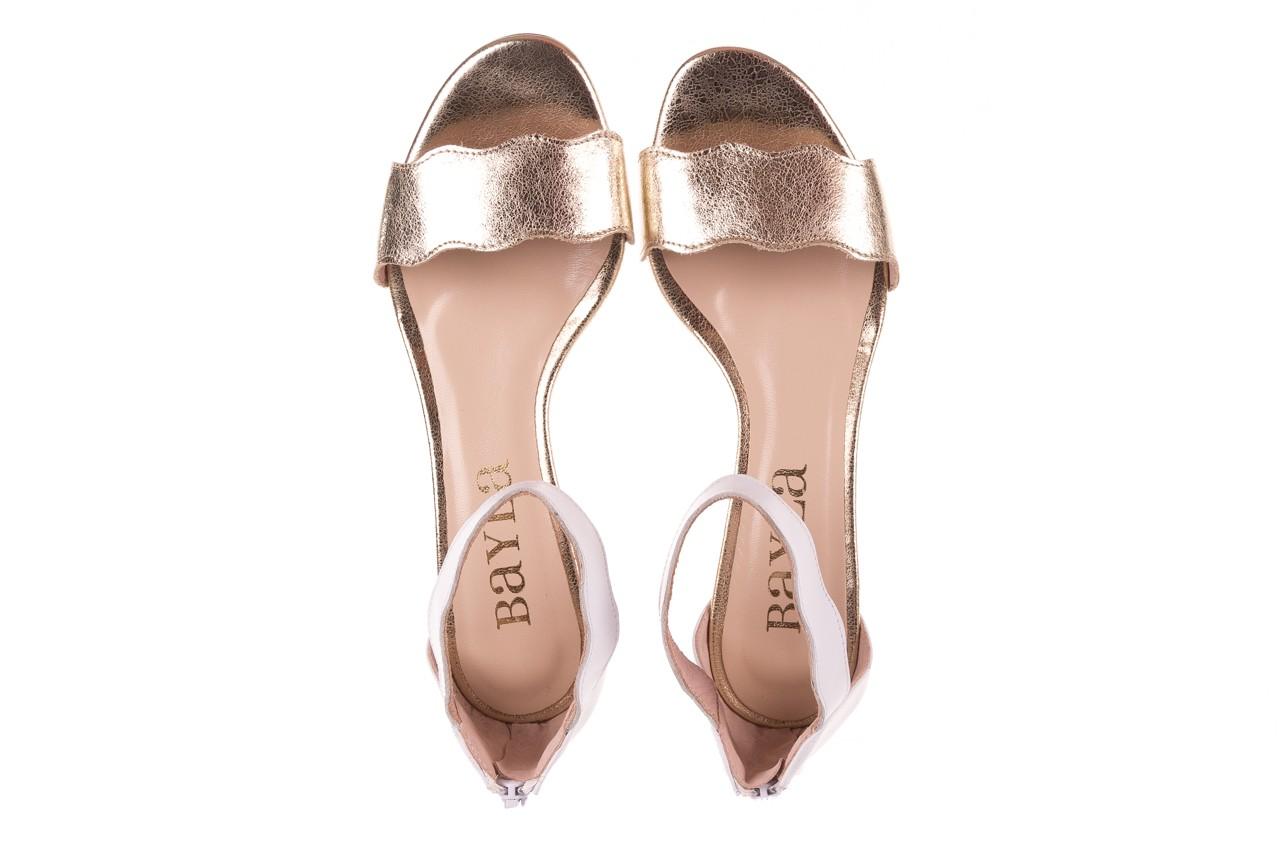 Sandały bayla-097 12 biało-złote sandały, skora naturalna  - kolekcja ślubna - trendy - kobieta 11