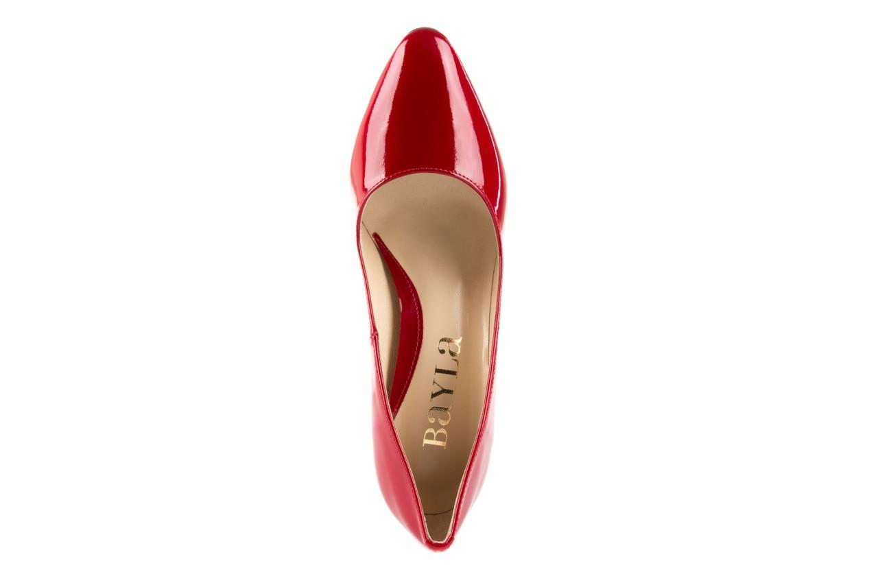 Czółenka bayla-097 l6879-733 czerwony, skóra naturalna lakierowana - bayla - nasze marki 9
