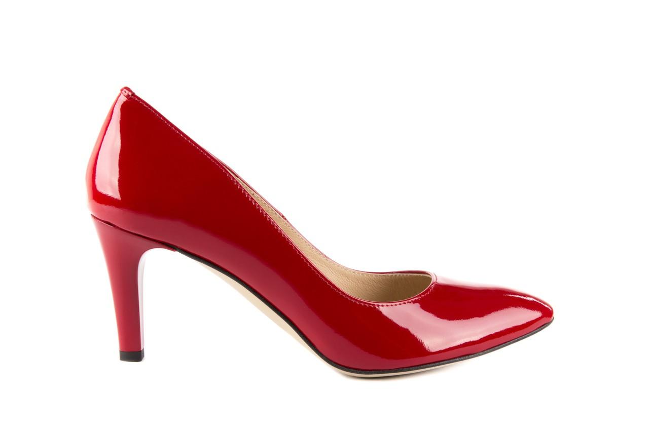 Czółenka bayla-097 l6879-733 czerwony, skóra naturalna lakierowana - bayla - nasze marki 5