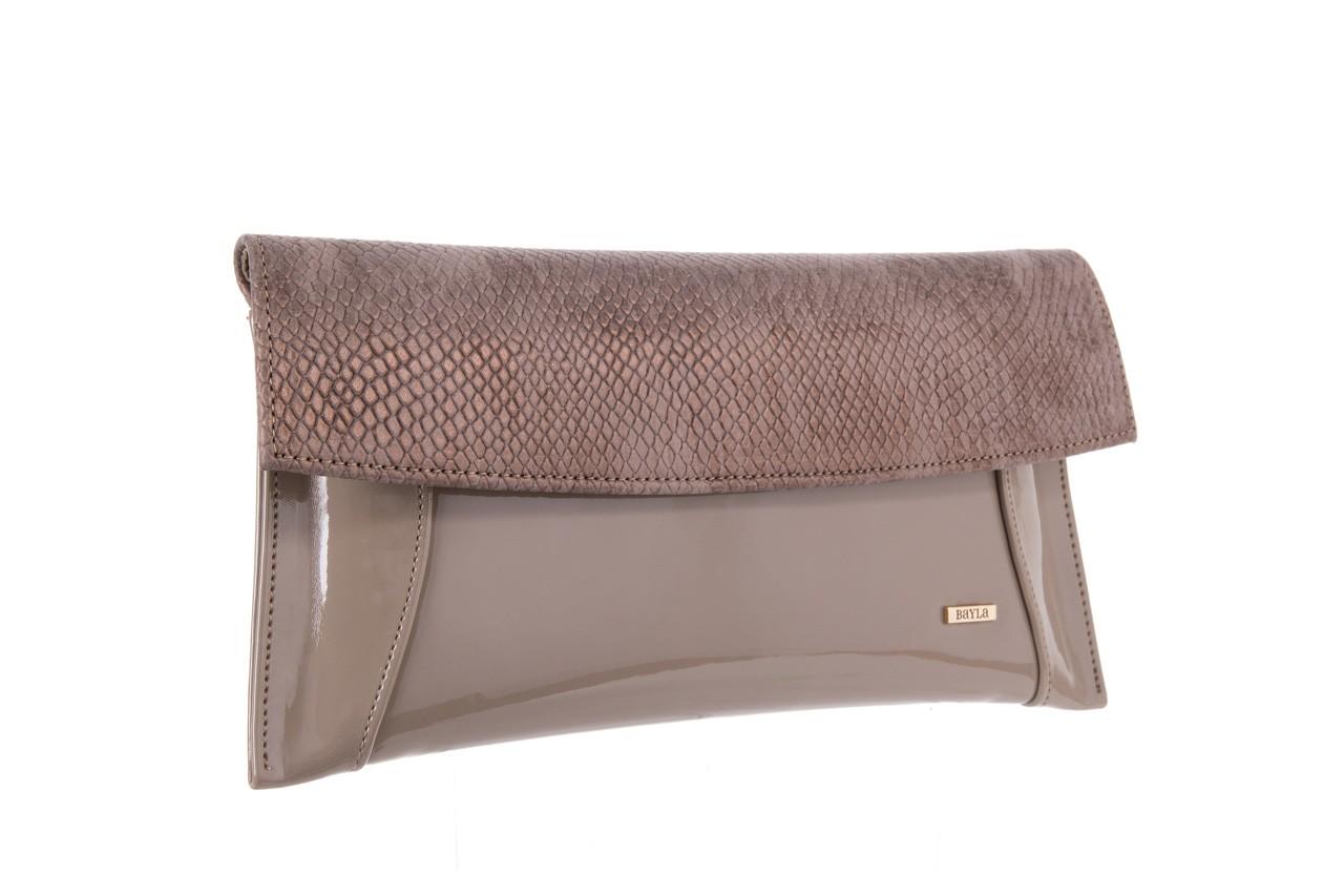 Bayla-097 torebka koperta sandra beż-metalic - bayla - nasze marki 6