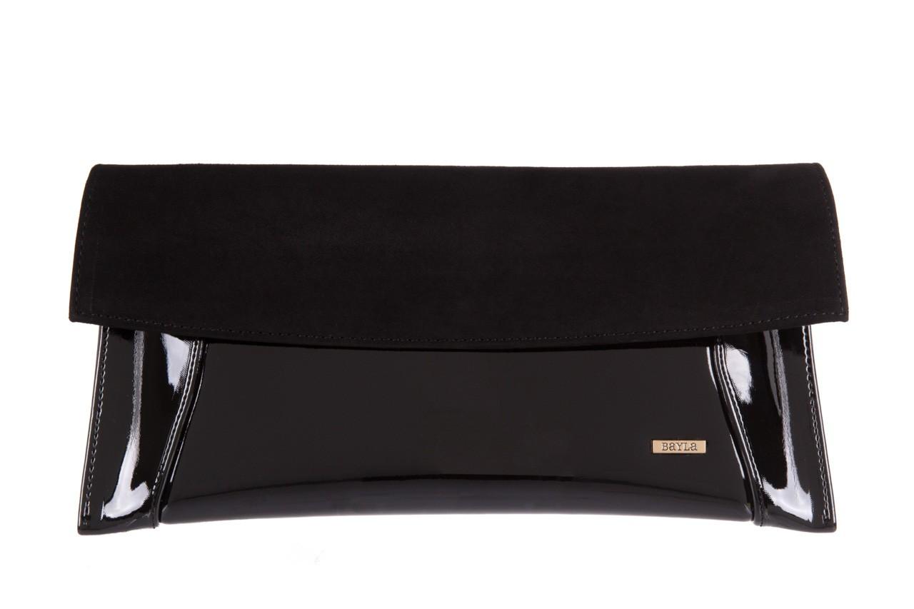 Bayla-097 torebka koperta sandra czarna-zamsz - bayla - nasze marki 5