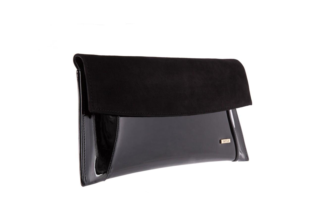 Bayla-097 torebka koperta sandra czarna-zamsz - bayla - nasze marki 6