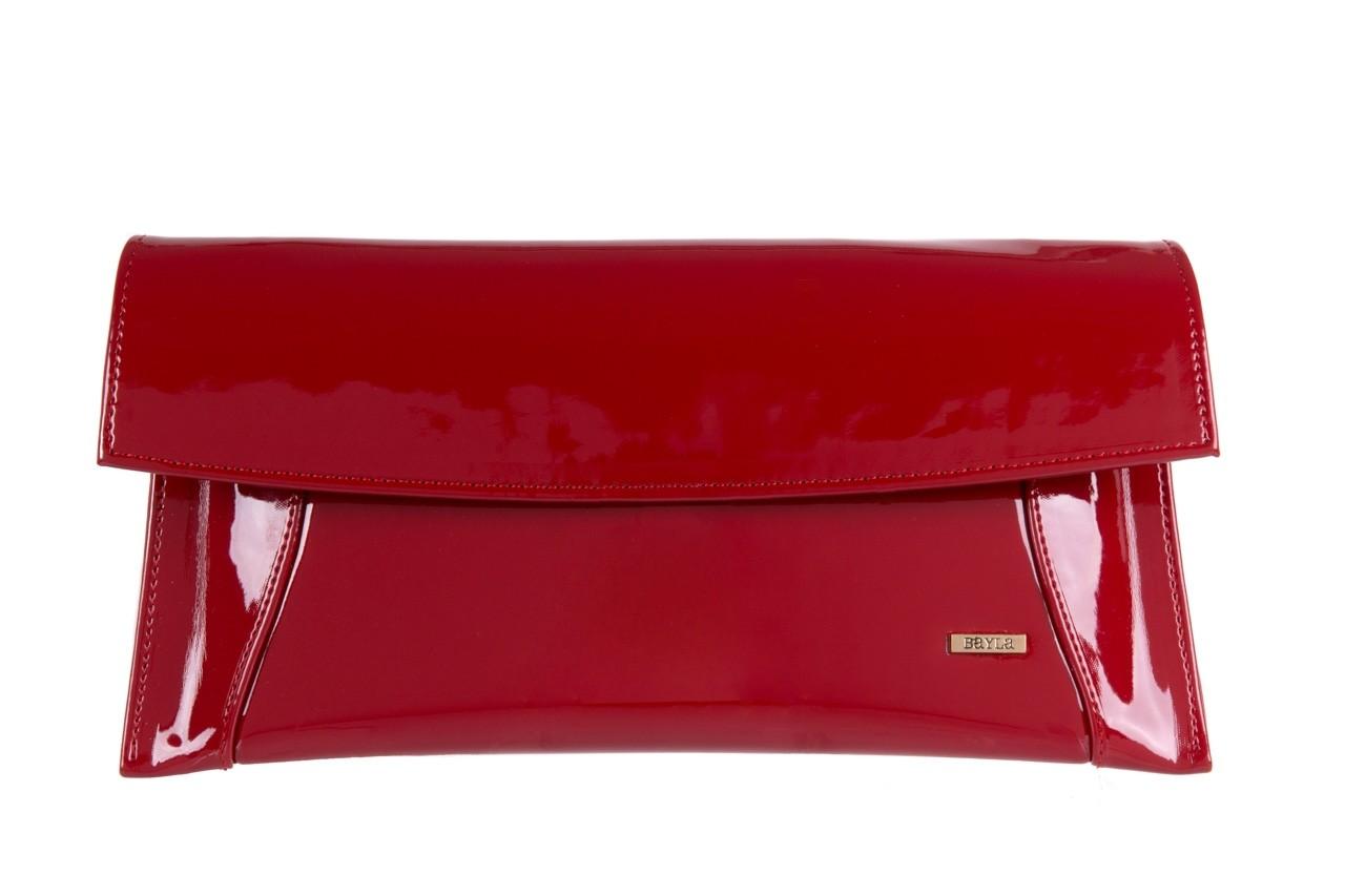 Torebka bayla-097 torebka koperta sandra czerwony-lakier 17 - akcesoria - kobieta 5