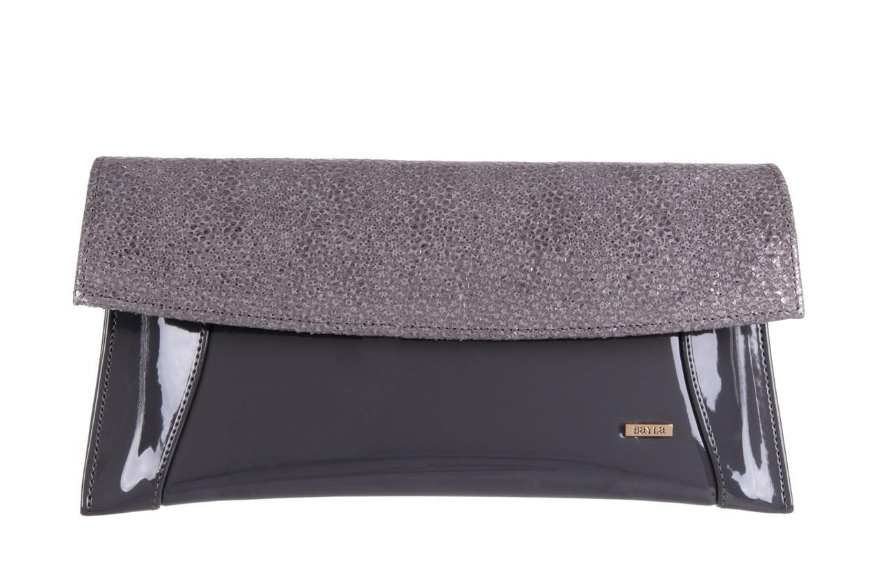Bayla-097 torebka koperta sandra szara-metalic - bayla - nasze marki 5