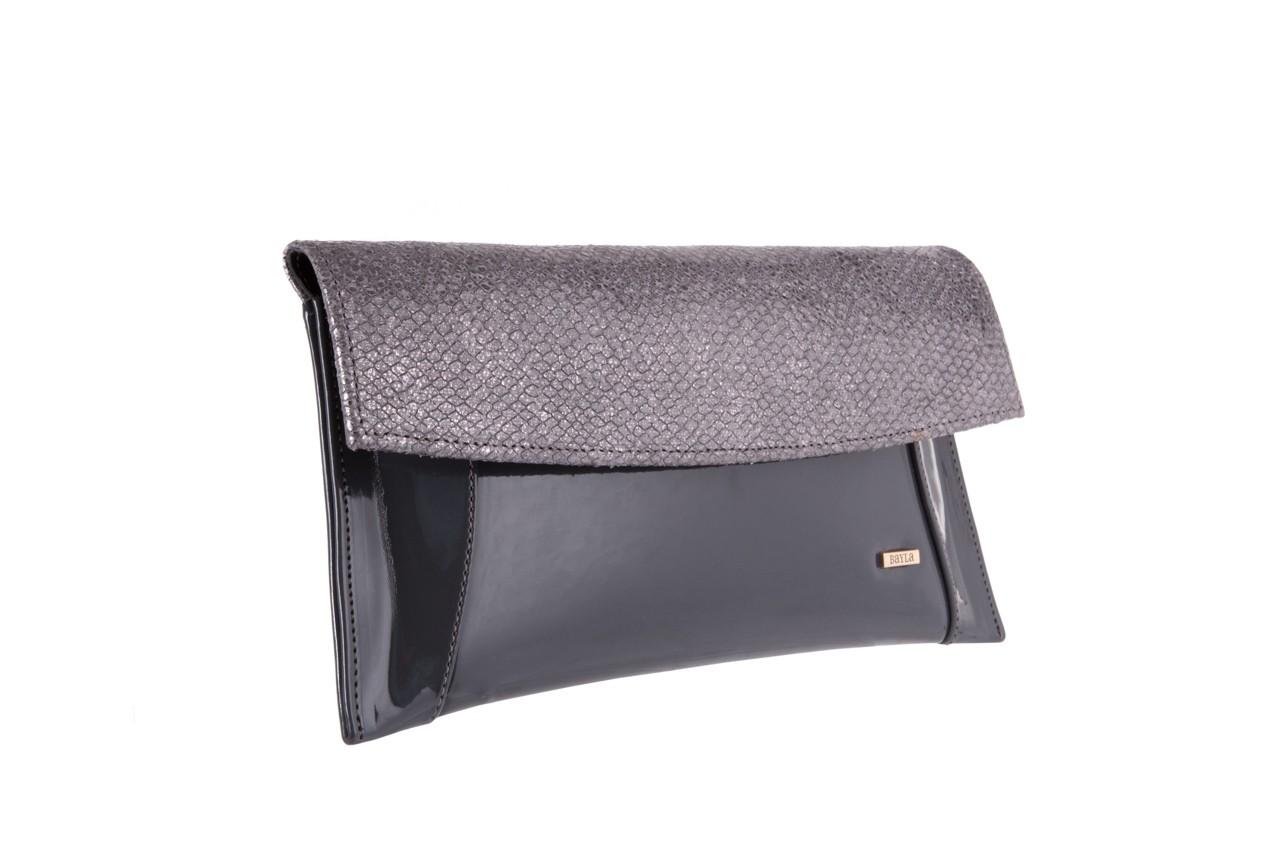 Bayla-097 torebka koperta sandra szara-metalic - bayla - nasze marki 6