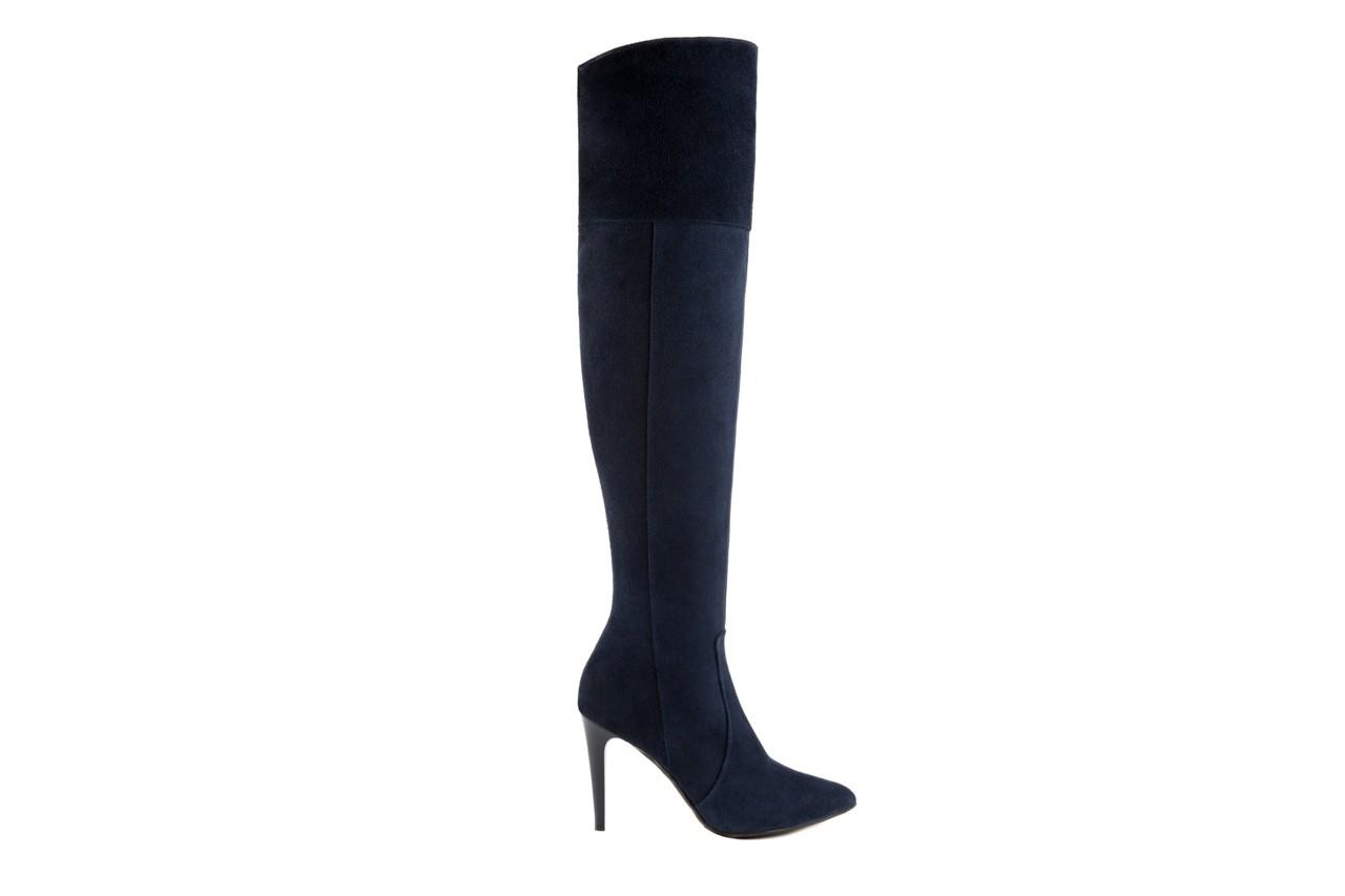 Kozaki bayla-097 w2418-221 granat, skóra naturalna - za kolano / muszkieterki - kozaki - buty damskie - kobieta 5