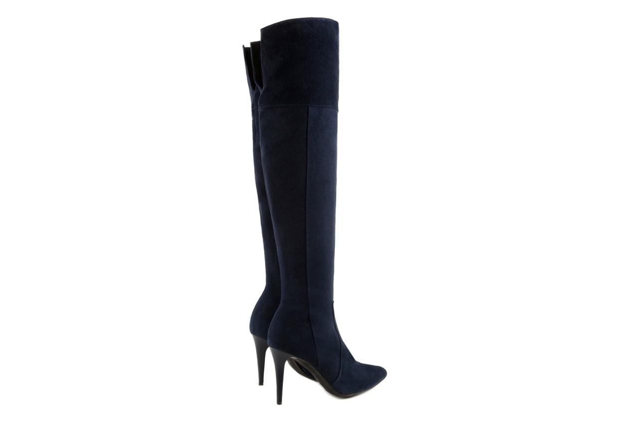 Kozaki bayla-097 w2418-221 granat, skóra naturalna - za kolano / muszkieterki - kozaki - buty damskie - kobieta 8