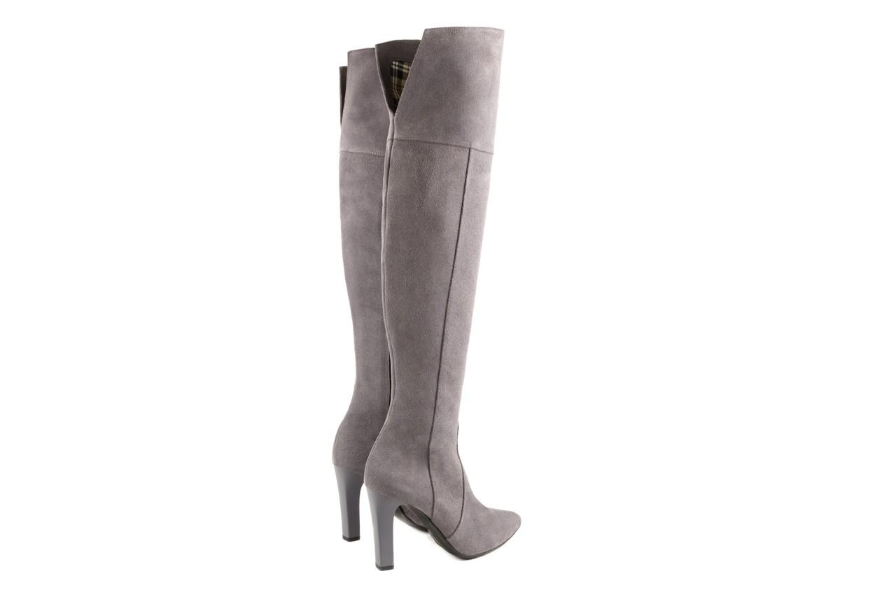Kozaki bayla-097 w2418-494 szary, skóra naturalna - za kolano / muszkieterki - kozaki - buty damskie - kobieta 8