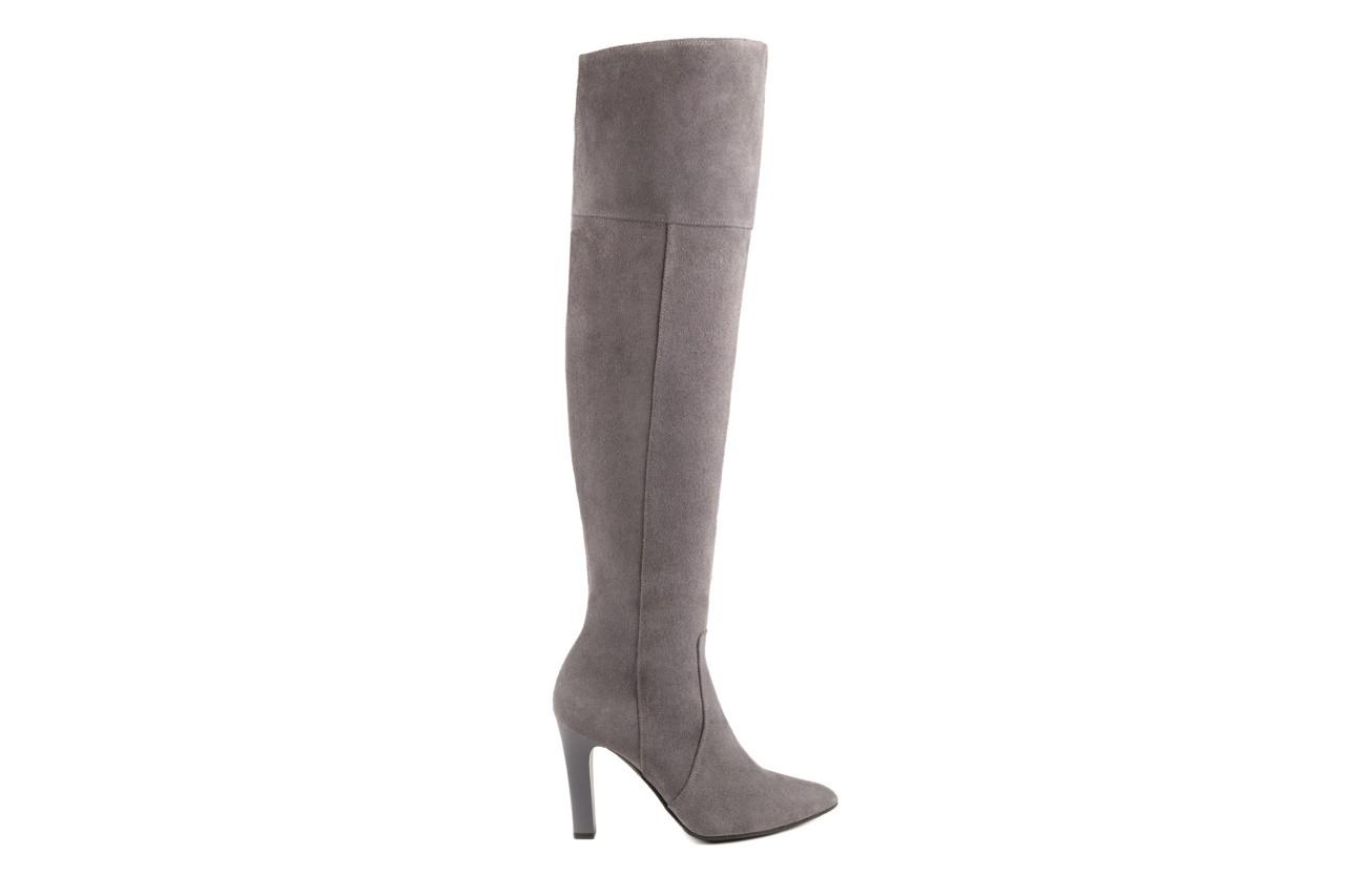 Kozaki bayla-097 w2418-494 szary, skóra naturalna - za kolano / muszkieterki - kozaki - buty damskie - kobieta 5