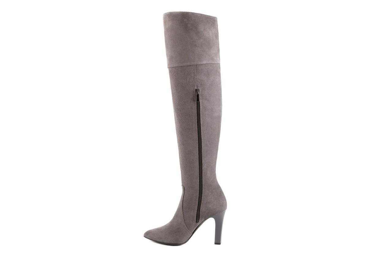 Kozaki bayla-097 w2418-494 szary, skóra naturalna - za kolano / muszkieterki - kozaki - buty damskie - kobieta 7