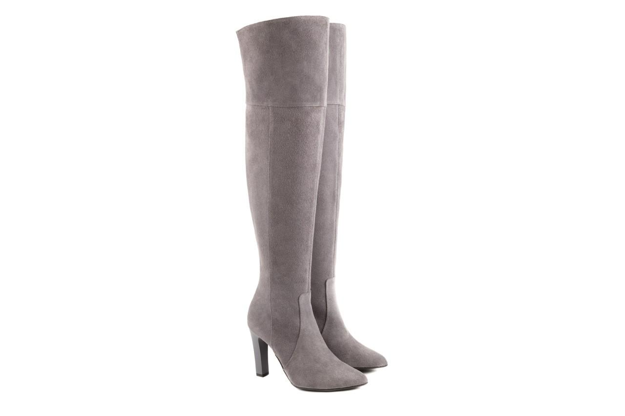Kozaki bayla-097 w2418-494 szary, skóra naturalna - za kolano / muszkieterki - kozaki - buty damskie - kobieta 6