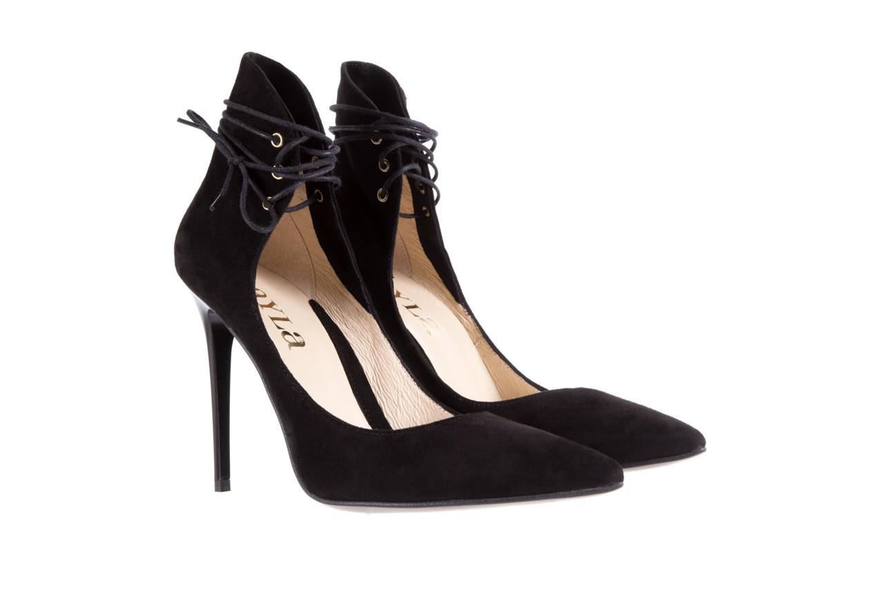Szpilki bayla-097 z6940-447 czarny, skóra naturalna - obuwie excl 10 - kobieta - nieprzecenione 8