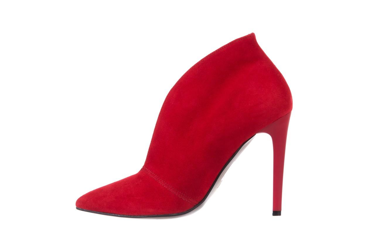 Botki bayla-097 z7011-322 czerwony, skóra naturalna - na szpilce - botki - buty damskie - kobieta 9