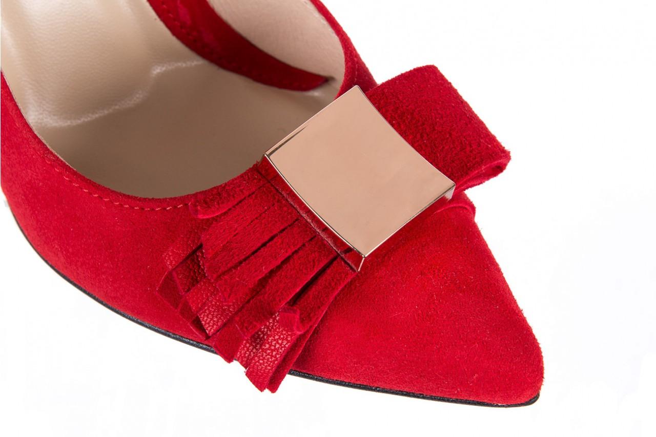 Czółenka bayla-097 z7135-322 czerwony, skóra naturalna  - zamszowe - szpilki - buty damskie - kobieta 13