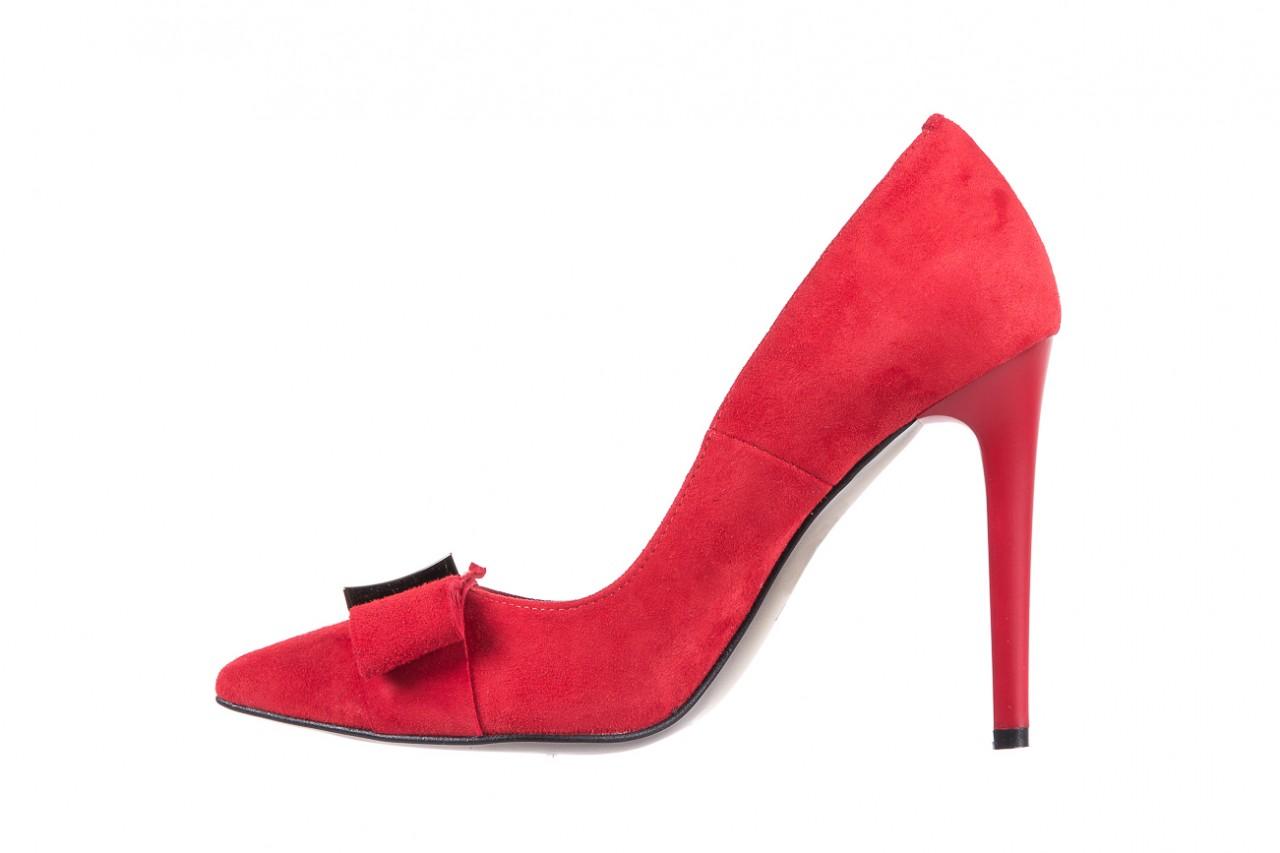 Czółenka bayla-097 z7135-322 czerwony, skóra naturalna  - zamszowe - szpilki - buty damskie - kobieta 10
