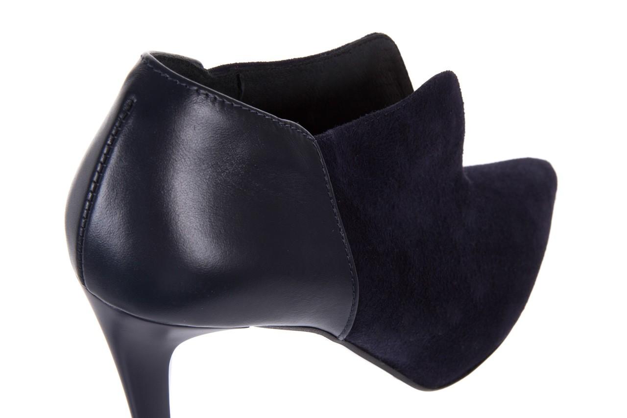 Botki bayla-097 zs7010-221 granat, skóra naturalna - na szpilce - botki - buty damskie - kobieta 13