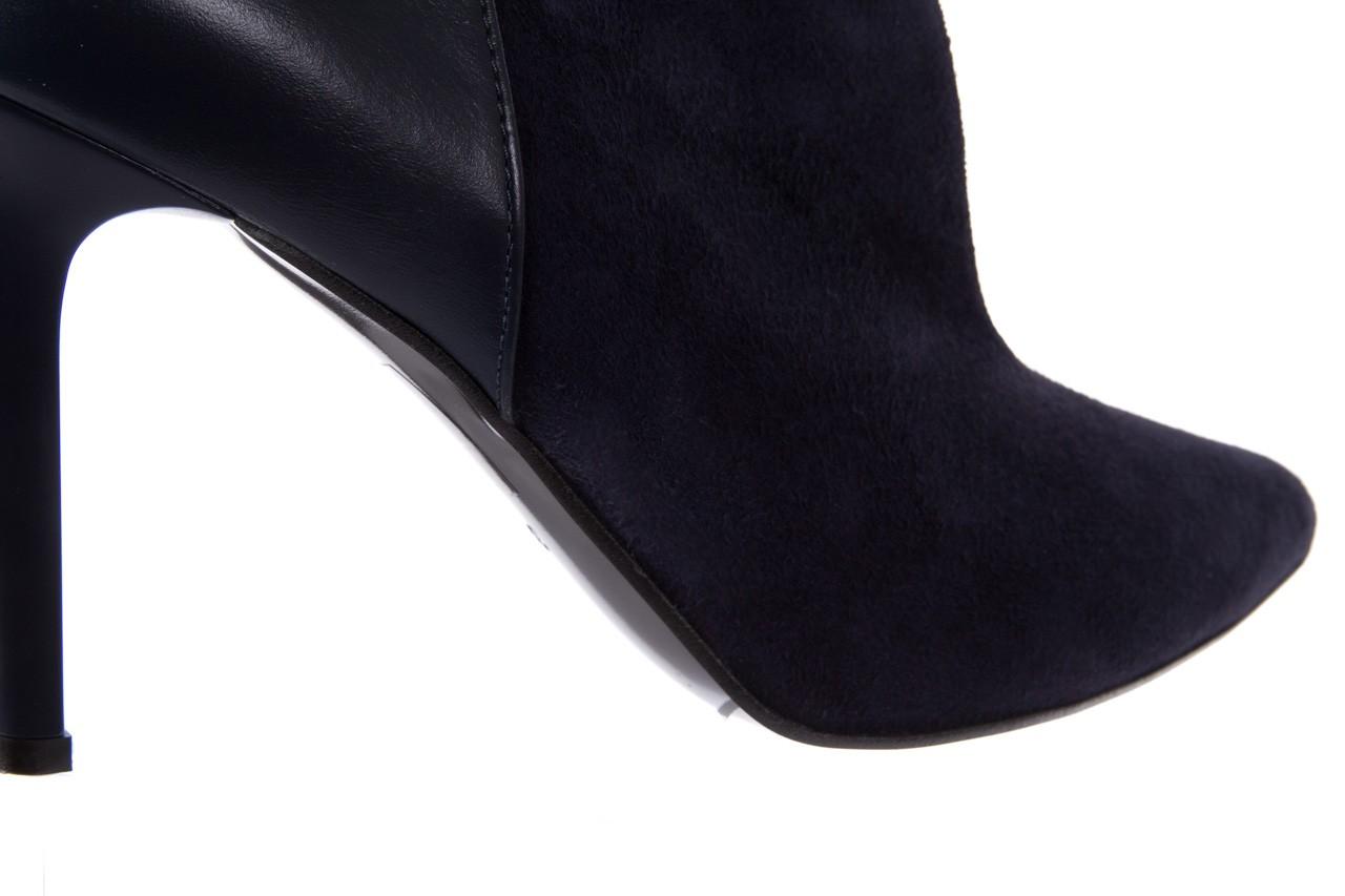 Botki bayla-097 zs7010-221 granat, skóra naturalna - na szpilce - botki - buty damskie - kobieta 12