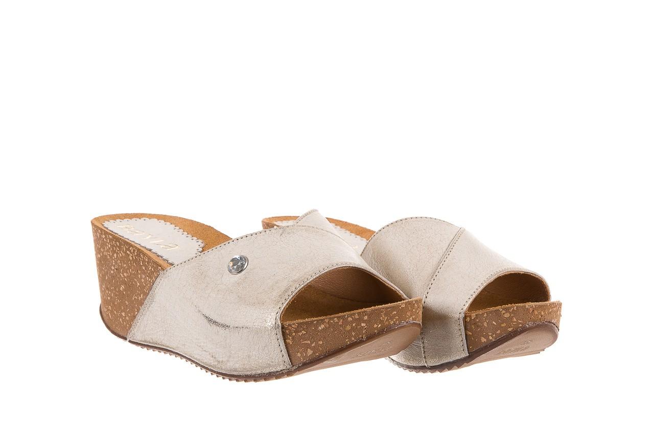 Klapki bayla-099 0795 dave platyna, skóra naturalna  - na koturnie - klapki - buty damskie - kobieta 7