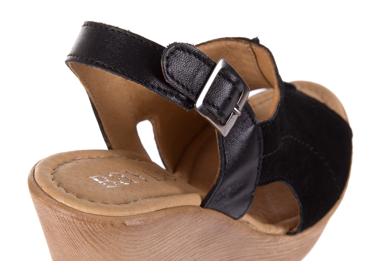 Sandały bayla-100 392s czarny wel, skóra naturalna  - bayla - nasze marki 11