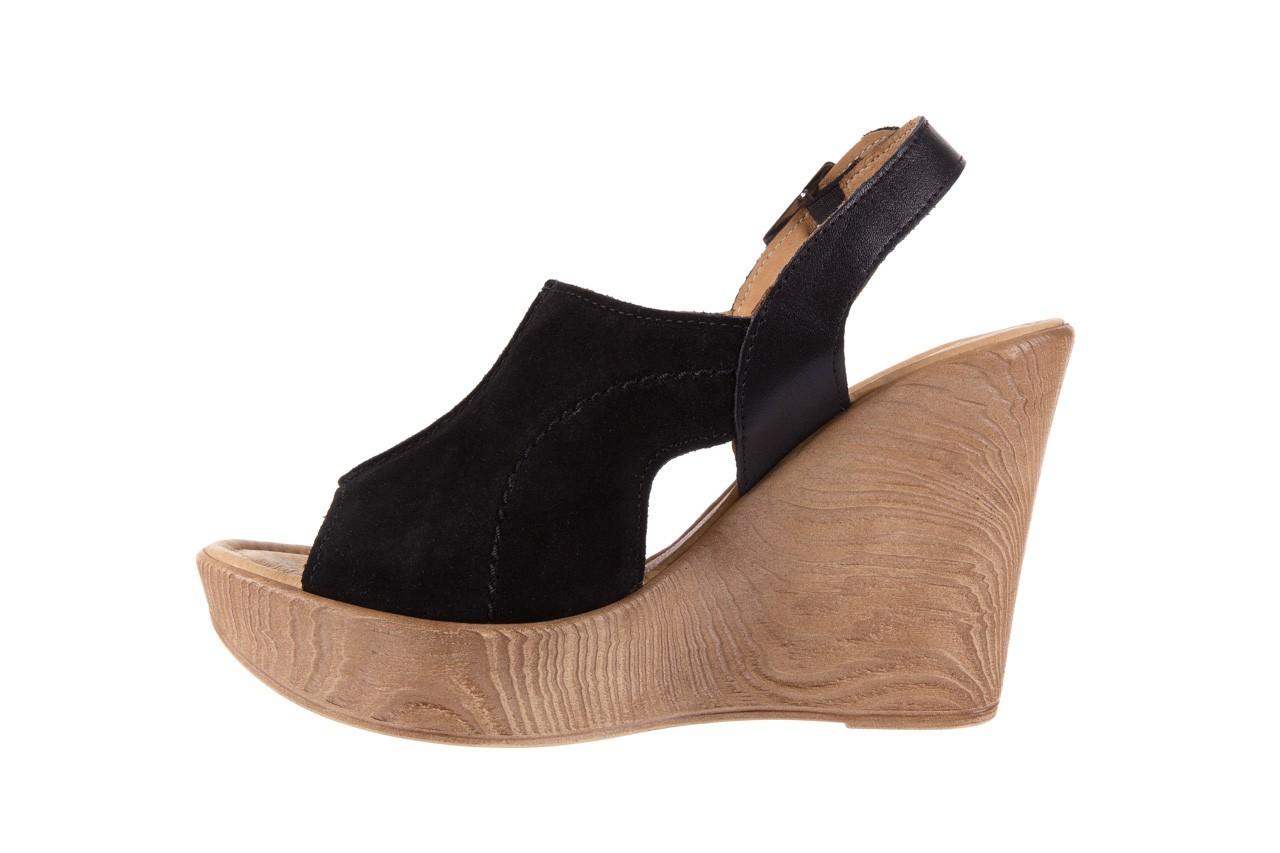 Sandały bayla-100 392s czarny wel, skóra naturalna  - bayla - nasze marki 8