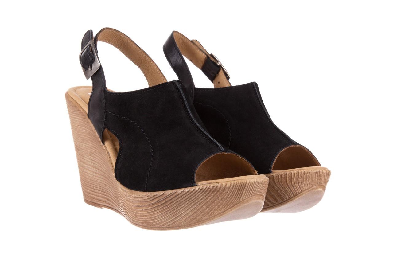 Sandały bayla-100 392s czarny wel, skóra naturalna  - bayla - nasze marki 7