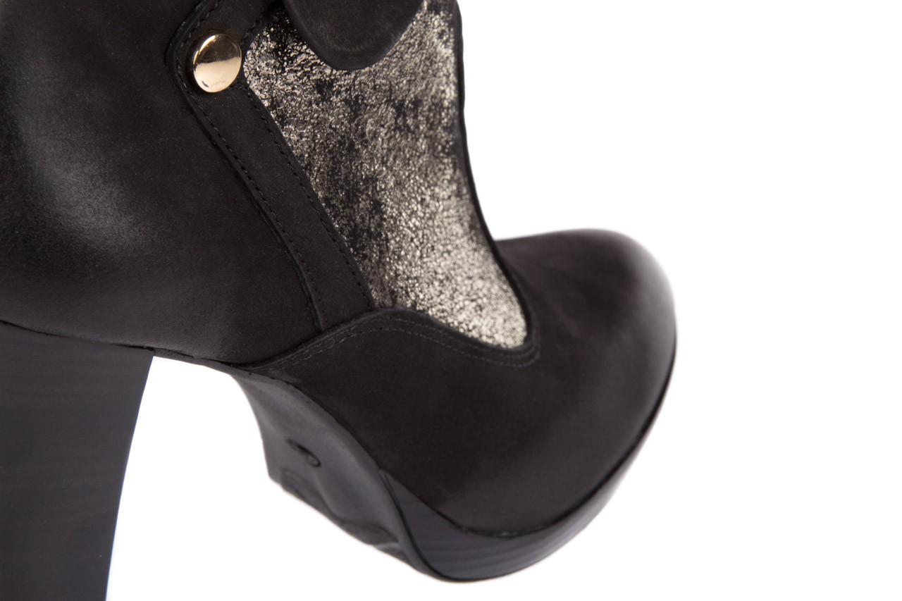 Botki bayla-100 413s czarny złoty, skóra naturalna - na platformie - botki - buty damskie - kobieta 11