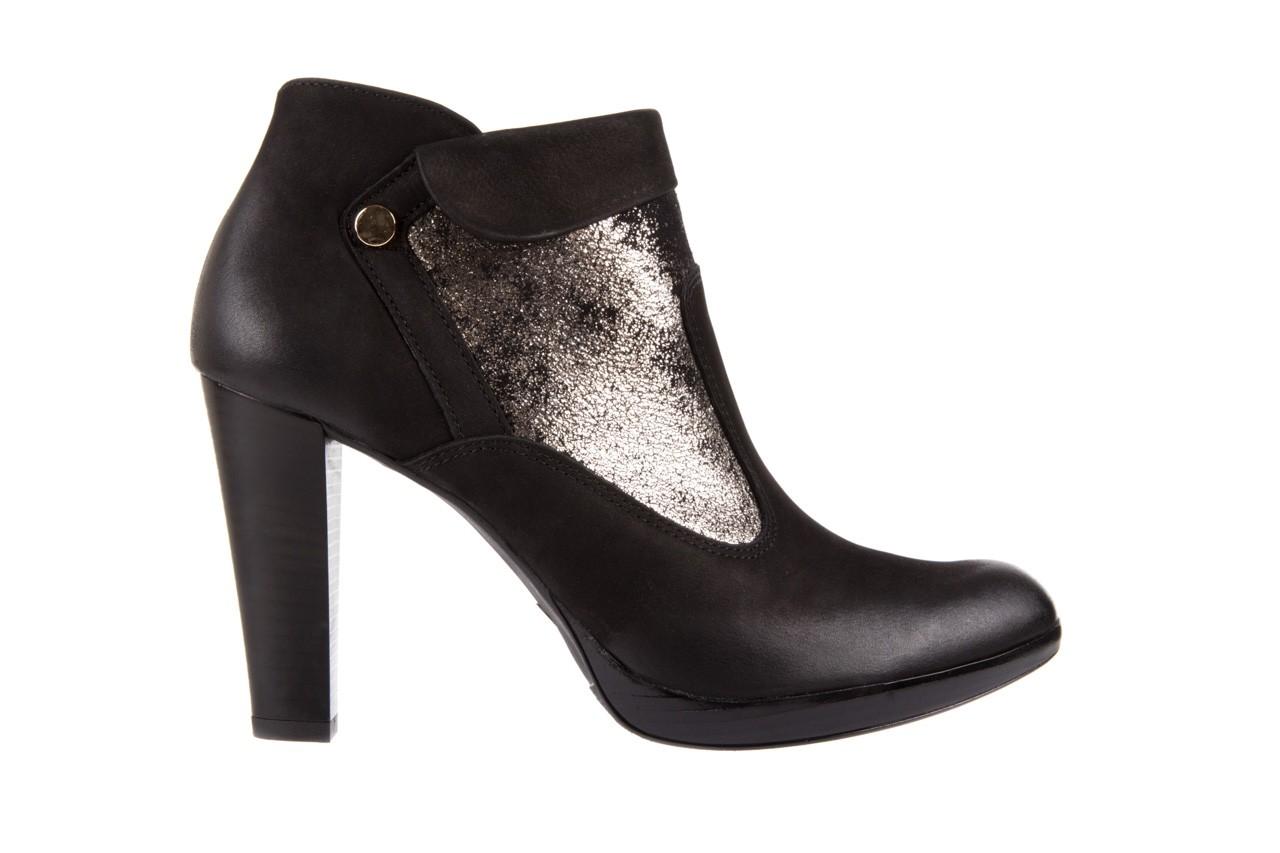 Botki bayla-100 413s czarny złoty, skóra naturalna - na platformie - botki - buty damskie - kobieta 6