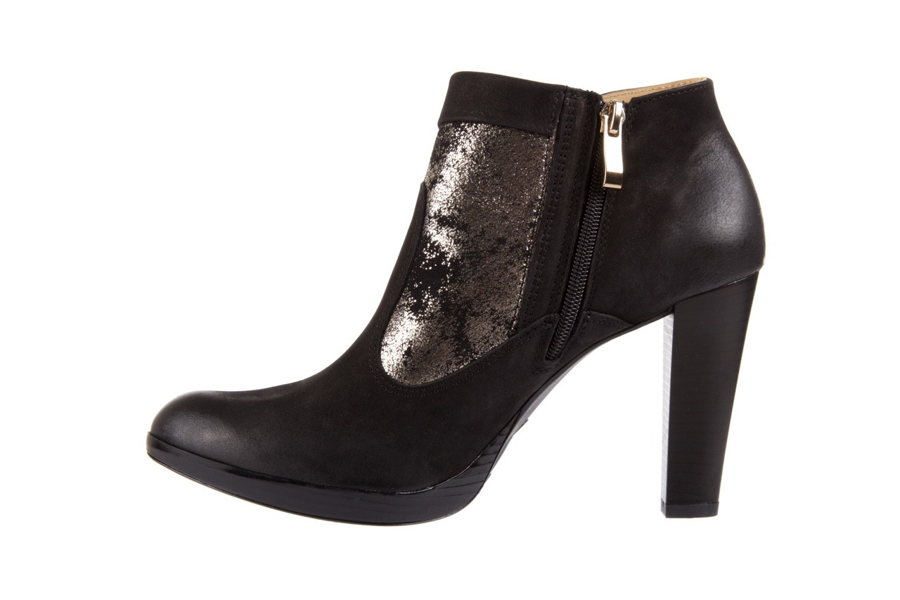 Botki bayla-100 413s czarny złoty, skóra naturalna - na platformie - botki - buty damskie - kobieta 8