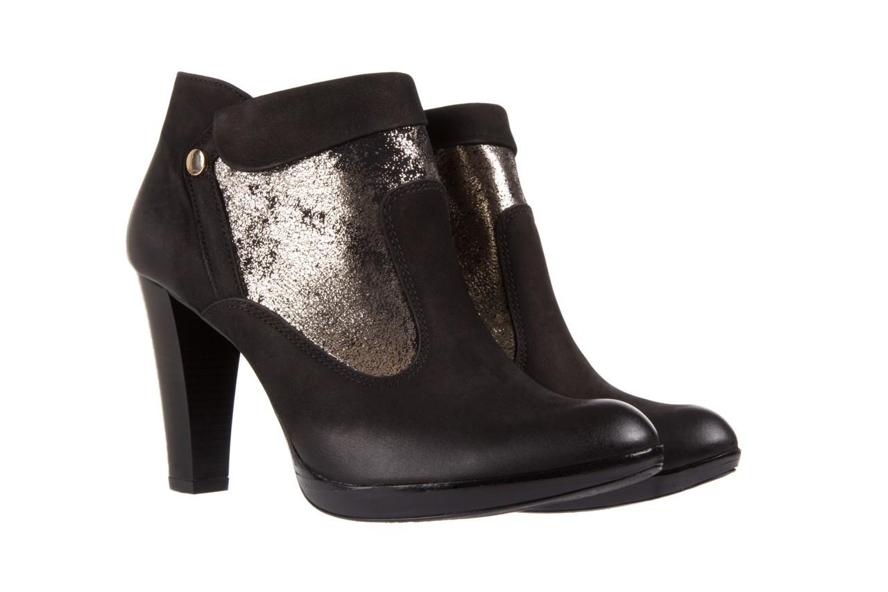 Botki bayla-100 413s czarny złoty, skóra naturalna - na platformie - botki - buty damskie - kobieta 7