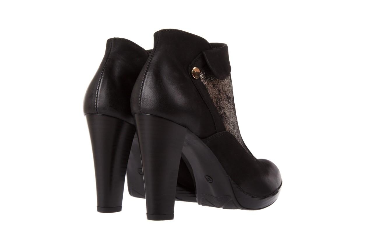 Botki bayla-100 413s czarny złoty, skóra naturalna - na platformie - botki - buty damskie - kobieta 9