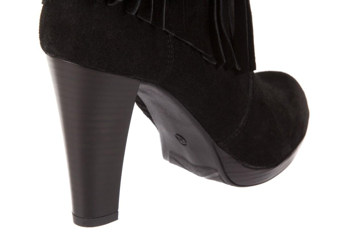 Botki bayla-100 442s czarny welur, skóra naturalna - na platformie - botki - buty damskie - kobieta 11