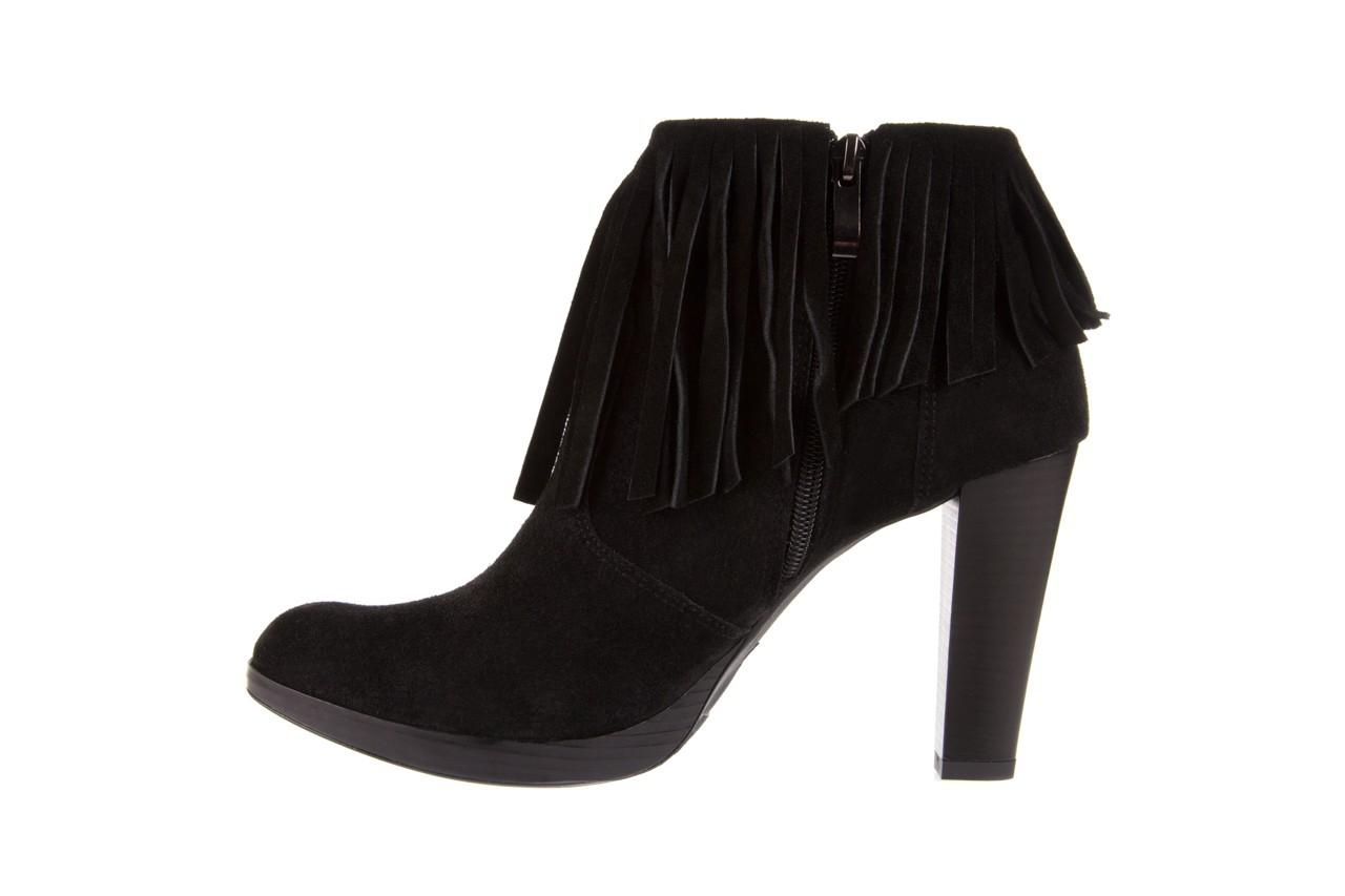 Botki bayla-100 442s czarny welur, skóra naturalna - na platformie - botki - buty damskie - kobieta 8