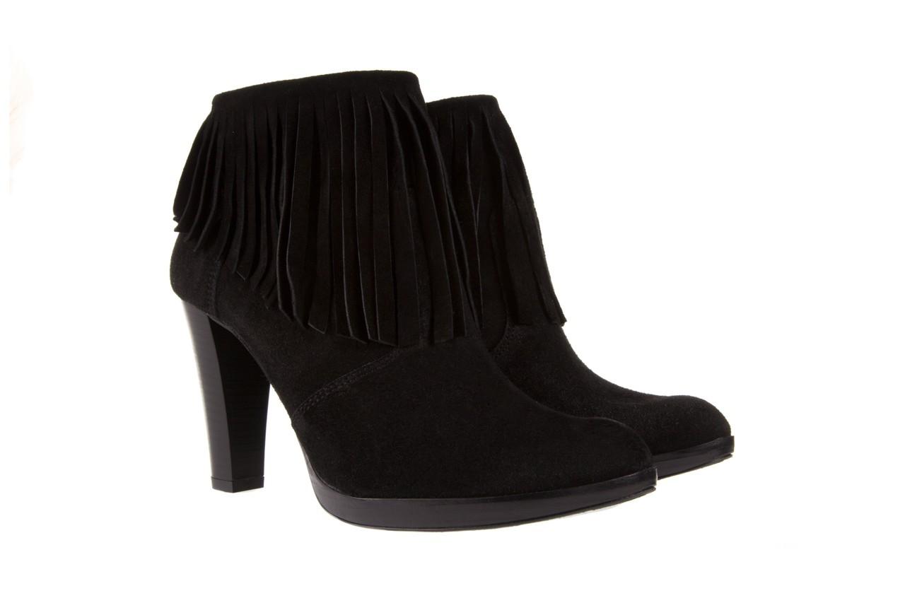 Botki bayla-100 442s czarny welur, skóra naturalna - na platformie - botki - buty damskie - kobieta 7