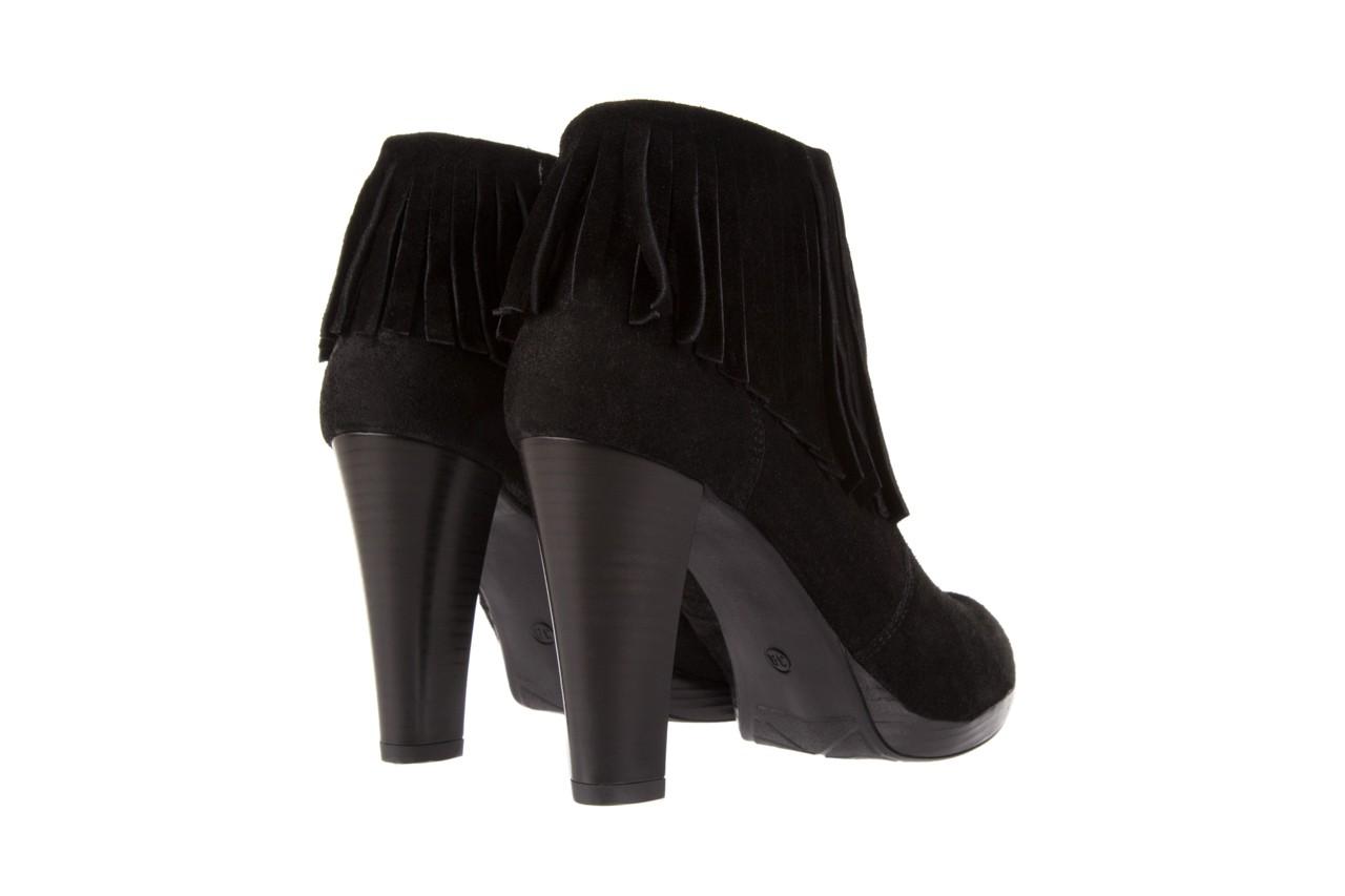 Botki bayla-100 442s czarny welur, skóra naturalna - na platformie - botki - buty damskie - kobieta 9