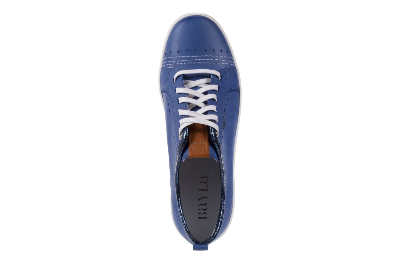 Trampki bayla-100 445s niebieski l, skóra naturalna  - bayla - nasze marki 10