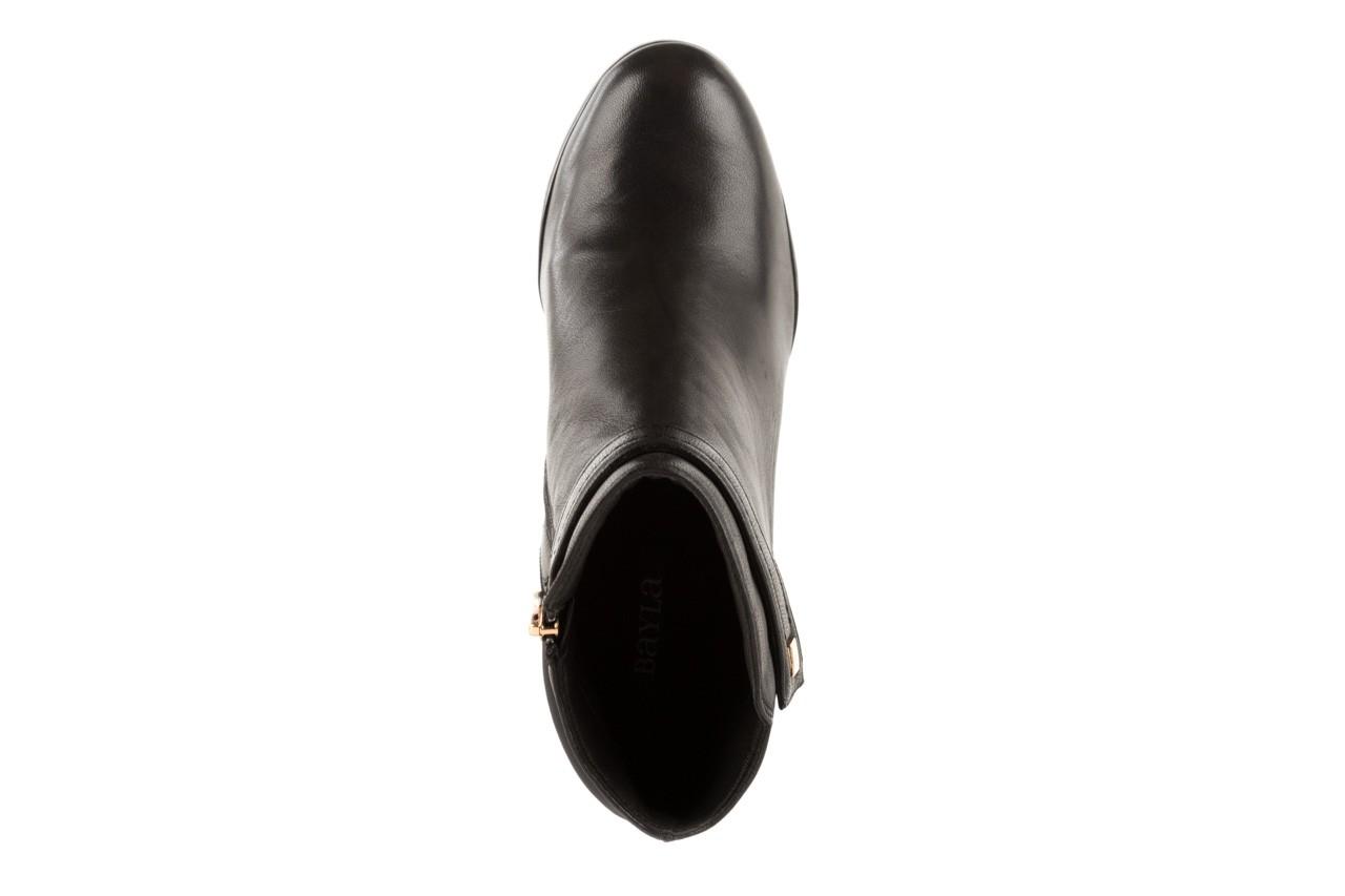 Botki bayla-106 321108 black, czarny, skóra naturalna/materiał - na koturnie - botki - buty damskie - kobieta 9