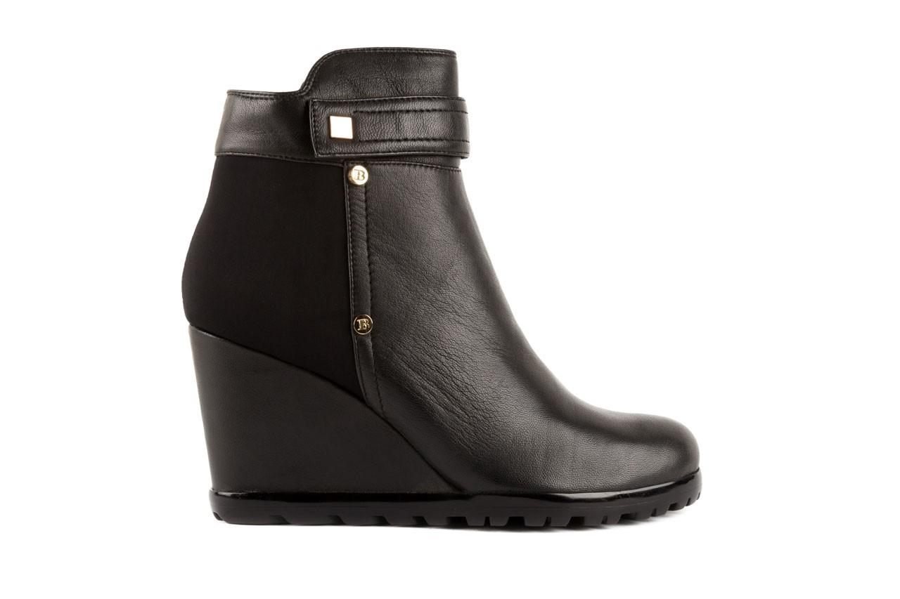 Botki bayla-106 321108 black, czarny, skóra naturalna/materiał - na koturnie - botki - buty damskie - kobieta 5
