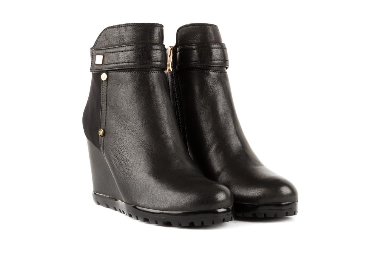 Botki bayla-106 321108 black, czarny, skóra naturalna/materiał - na koturnie - botki - buty damskie - kobieta 6