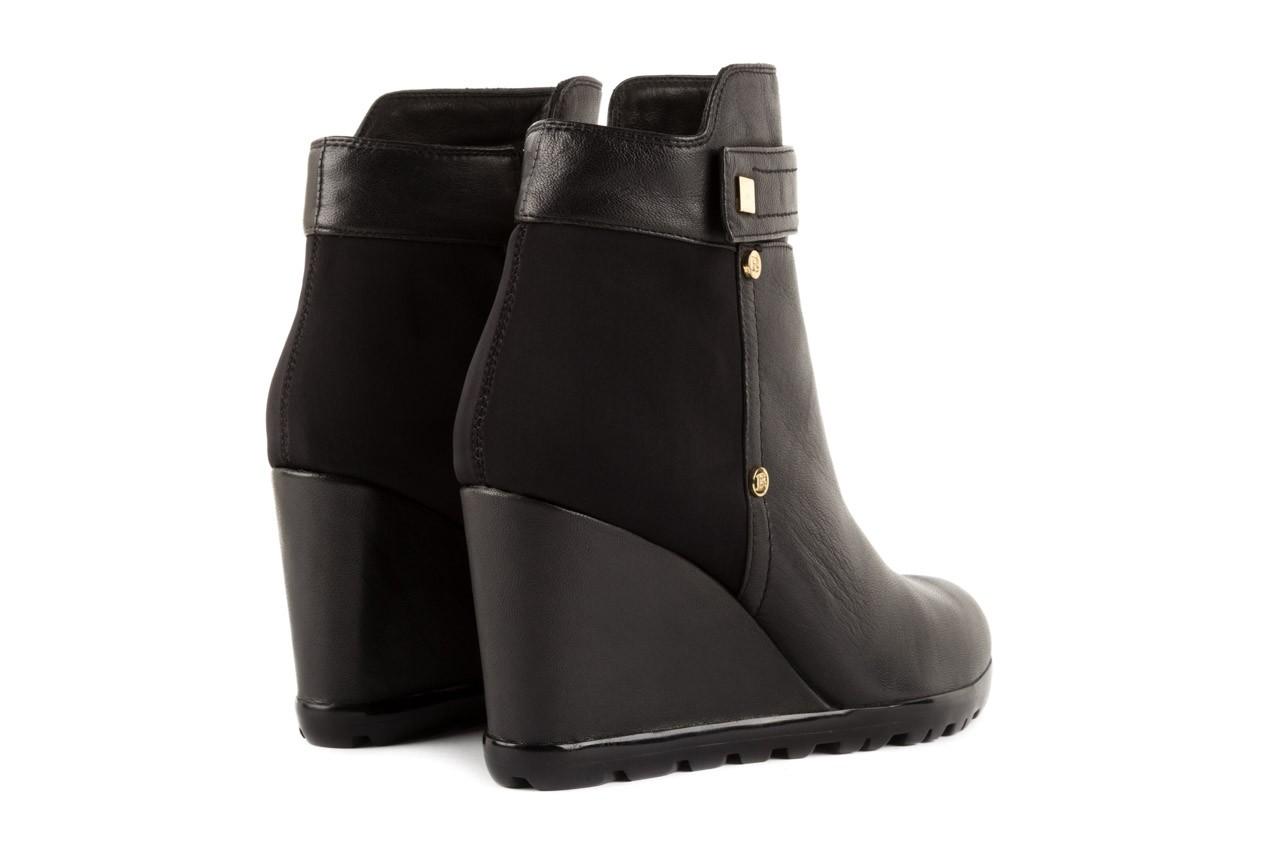 Botki bayla-106 321108 black, czarny, skóra naturalna/materiał - na koturnie - botki - buty damskie - kobieta 8