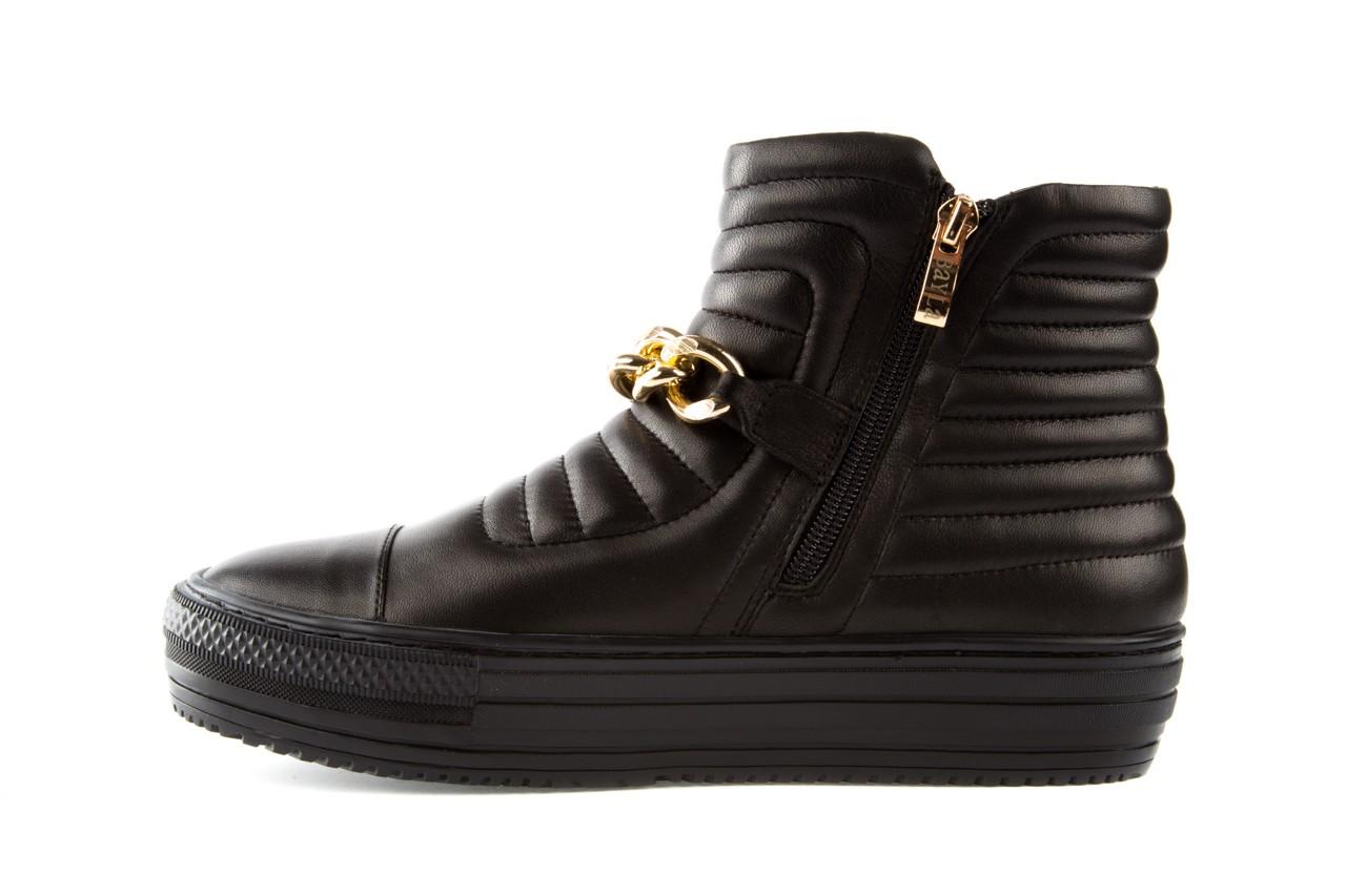 Trampki bayla-106 4208004 black, czarny, skóra naturalna - na platformie - botki - buty damskie - kobieta 8