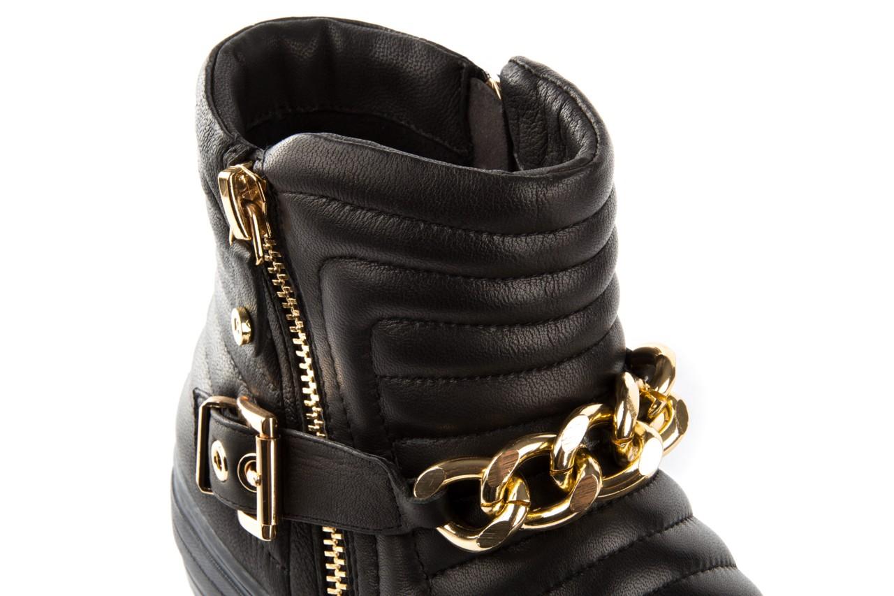 Trampki bayla-106 4208004 black, czarny, skóra naturalna - na platformie - botki - buty damskie - kobieta 11