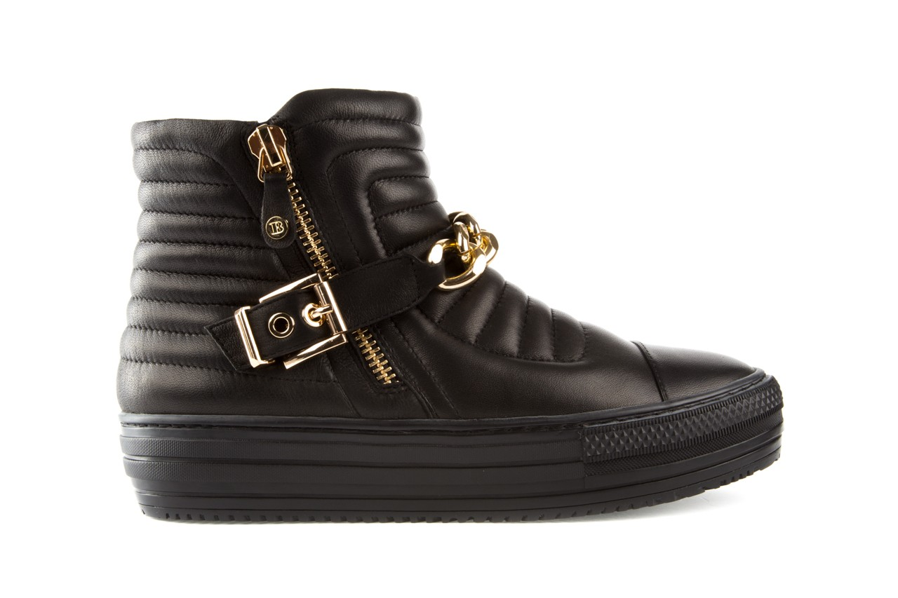 Trampki bayla-106 4208004 black, czarny, skóra naturalna - na platformie - botki - buty damskie - kobieta 6