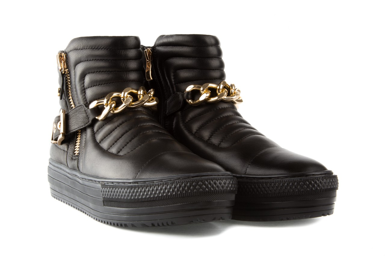 Trampki bayla-106 4208004 black, czarny, skóra naturalna - na platformie - botki - buty damskie - kobieta 7