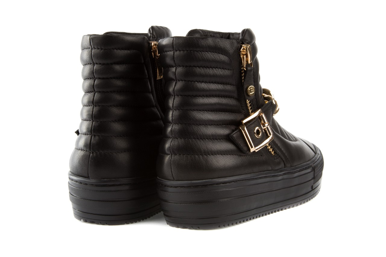 Trampki bayla-106 4208004 black, czarny, skóra naturalna - na platformie - botki - buty damskie - kobieta 9