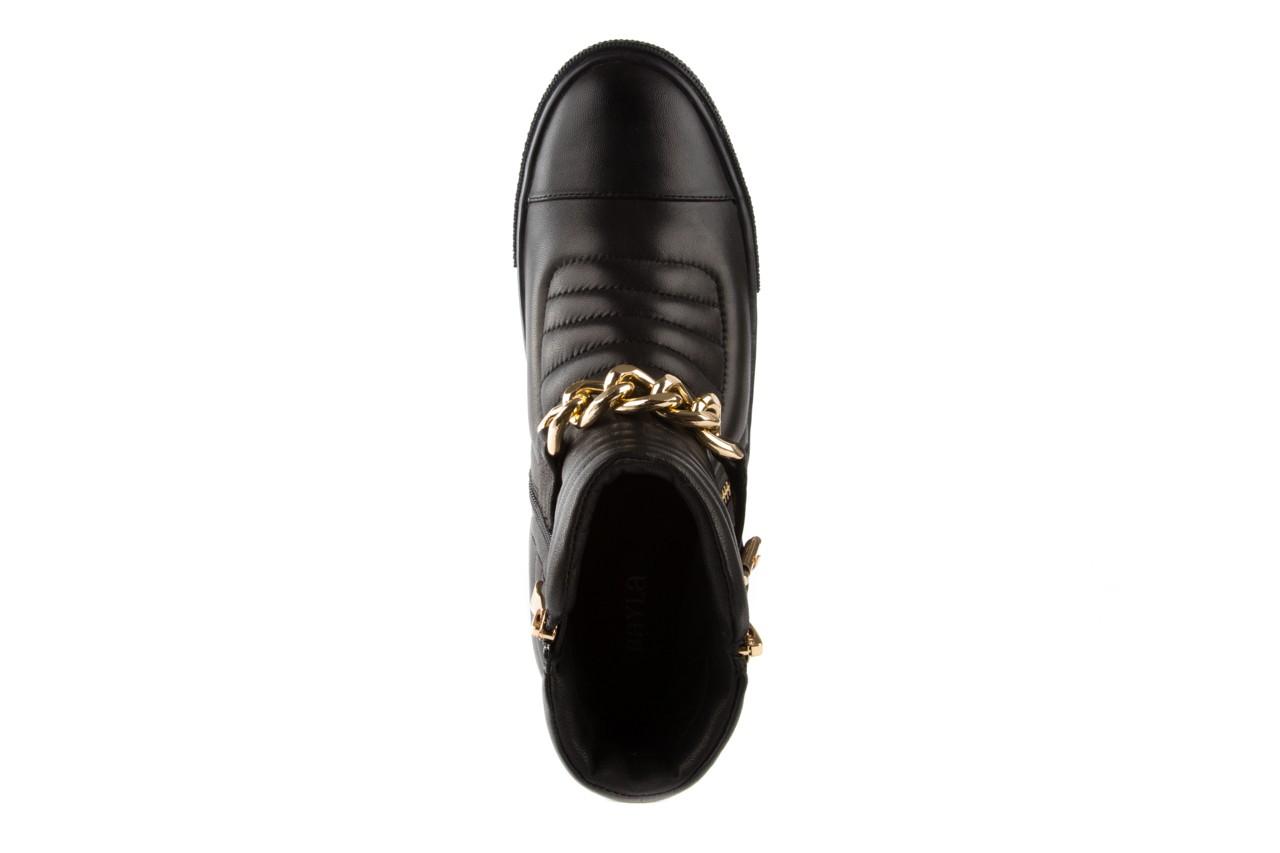 Trampki bayla-106 4208004 black, czarny, skóra naturalna - na platformie - botki - buty damskie - kobieta 10